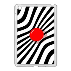 Abstract Red Ball Apple Ipad Mini Case (white) by Valentinaart