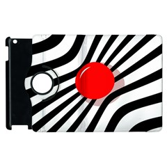 Abstract Red Ball Apple Ipad 2 Flip 360 Case by Valentinaart