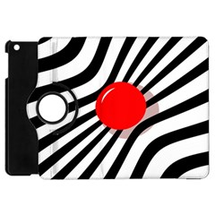 Abstract Red Ball Apple Ipad Mini Flip 360 Case by Valentinaart