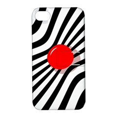 Abstract Red Ball Apple Iphone 4/4s Hardshell Case With Stand by Valentinaart