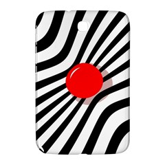 Abstract Red Ball Samsung Galaxy Note 8 0 N5100 Hardshell Case  by Valentinaart