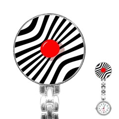 Abstract Red Ball Stainless Steel Nurses Watch by Valentinaart
