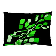 Green Decorative Abstraction Pillow Case (two Sides) by Valentinaart