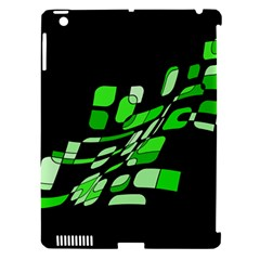 Green Decorative Abstraction Apple Ipad 3/4 Hardshell Case (compatible With Smart Cover) by Valentinaart