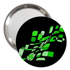 Green Decorative Abstraction 3  Handbag Mirrors by Valentinaart