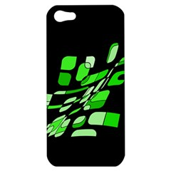 Green Decorative Abstraction Apple Iphone 5 Hardshell Case by Valentinaart