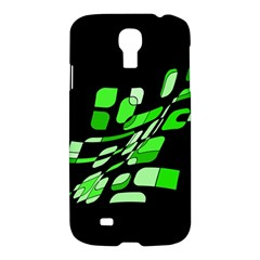 Green Decorative Abstraction Samsung Galaxy S4 I9500/i9505 Hardshell Case by Valentinaart