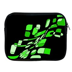Green Decorative Abstraction Apple Ipad 2/3/4 Zipper Cases by Valentinaart