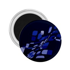 Blue Abstraction 2 25  Magnets by Valentinaart