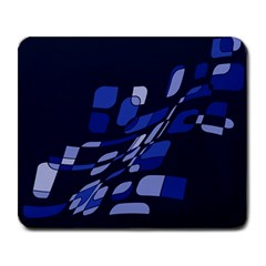 Blue Abstraction Large Mousepads by Valentinaart