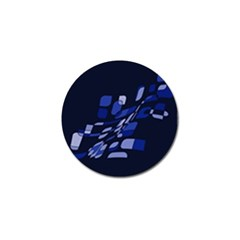 Blue Abstraction Golf Ball Marker (4 Pack) by Valentinaart