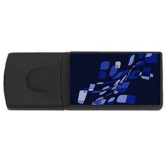 Blue Abstraction Usb Flash Drive Rectangular (4 Gb)