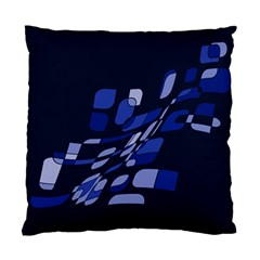 Blue Abstraction Standard Cushion Case (one Side) by Valentinaart
