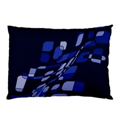 Blue Abstraction Pillow Case by Valentinaart