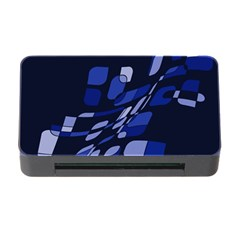 Blue Abstraction Memory Card Reader With Cf by Valentinaart