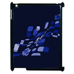 Blue Abstraction Apple Ipad 2 Case (black) by Valentinaart