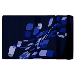 Blue Abstraction Apple Ipad 2 Flip Case by Valentinaart