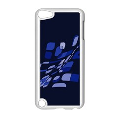 Blue Abstraction Apple Ipod Touch 5 Case (white) by Valentinaart