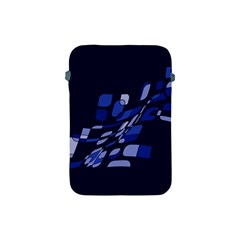 Blue Abstraction Apple Ipad Mini Protective Soft Cases by Valentinaart