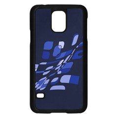 Blue Abstraction Samsung Galaxy S5 Case (black) by Valentinaart