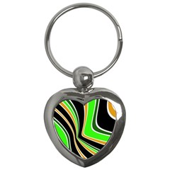 Colors Of 70 s Key Chains (heart)  by Valentinaart