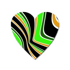 Colors Of 70 s Heart Magnet by Valentinaart