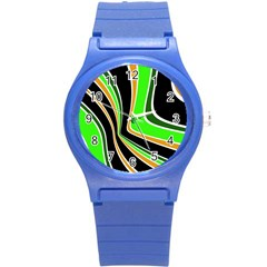 Colors Of 70 s Round Plastic Sport Watch (s) by Valentinaart
