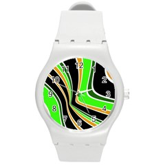 Colors Of 70 s Round Plastic Sport Watch (m) by Valentinaart