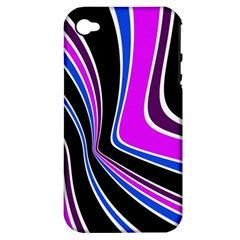 Colors Of 70 s Apple Iphone 4/4s Hardshell Case (pc+silicone) by Valentinaart