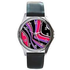 Colors Of 70 s Round Metal Watch by Valentinaart