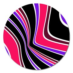 Colors Of 70 s Magnet 5  (round) by Valentinaart