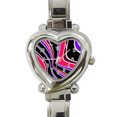 Colors Of 70 s Heart Italian Charm Watch by Valentinaart