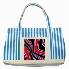 Colors Of 70 s Striped Blue Tote Bag by Valentinaart