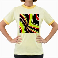 Colors Of 70 s Women s Fitted Ringer T Shirts