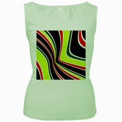 Colors Of 70 s Women s Green Tank Top