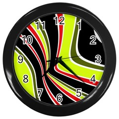 Colors Of 70 s Wall Clocks (black)