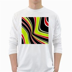 Colors Of 70 s White Long Sleeve T Shirts