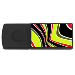 Colors Of 70 s Usb Flash Drive Rectangular (4 Gb)  by Valentinaart