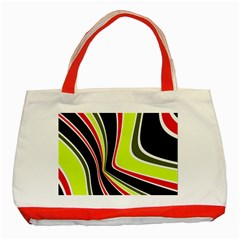 Colors Of 70 s Classic Tote Bag (red) by Valentinaart