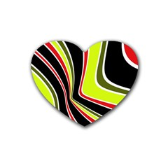 Colors Of 70 s Rubber Coaster (heart)  by Valentinaart