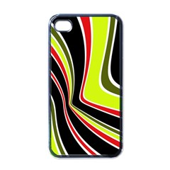 Colors Of 70 s Apple Iphone 4 Case (black) by Valentinaart