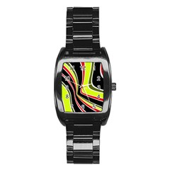 Colors Of 70 s Stainless Steel Barrel Watch by Valentinaart