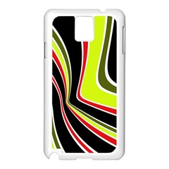 Colors Of 70 s Samsung Galaxy Note 3 N9005 Case (white) by Valentinaart