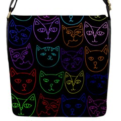 Retro Rainbow Cats  Flap Messenger Bag (s) by BubbSnugg