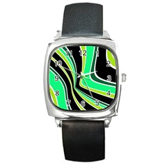 Colors Of 70 s Square Metal Watch