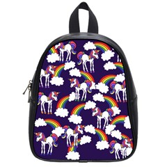 Retro Rainbows And Unicorns School Bags (small)  by BubbSnugg
