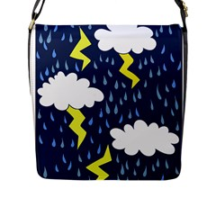 Thunderstorms Flap Messenger Bag (l)  by BubbSnugg