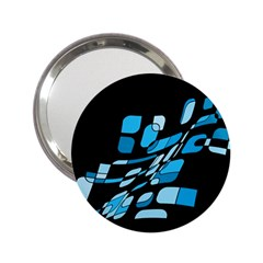 Blue Abstraction 2 25  Handbag Mirrors by Valentinaart