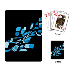 Blue Abstraction Playing Card by Valentinaart