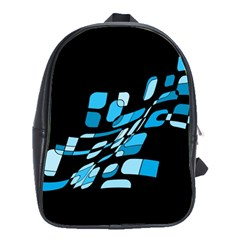 Blue Abstraction School Bags(large)  by Valentinaart